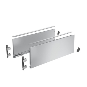 AvanTech YOU Drawer side profile set, height 187 mm x NL 500 mm, silver, left and right