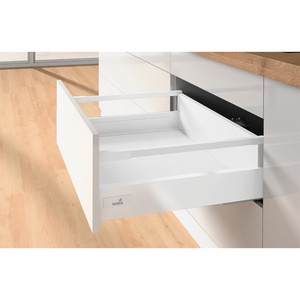 Pot-and-pan drawer set with railing InnoTech Atira, Quadro V6, 470 / 144 mm, white, left and right