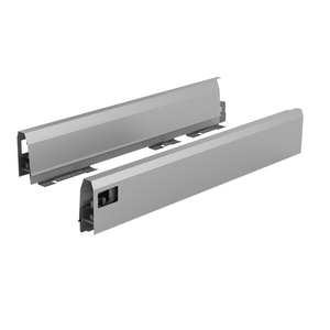 ArciTech Drawer side profile, Drawer side profile height 94 x NL 300 mm, silver, right
